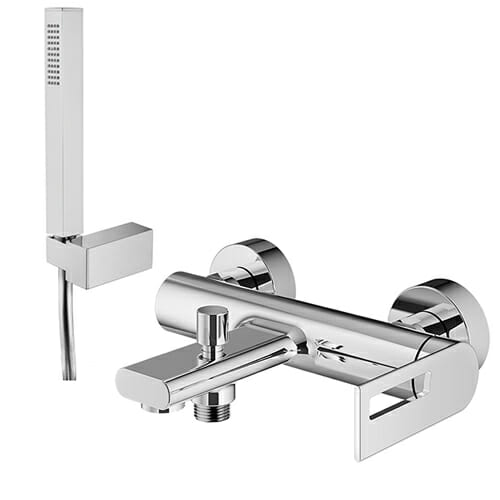 Single lever bath mixer with shower kit Otto series OTT0020-CR