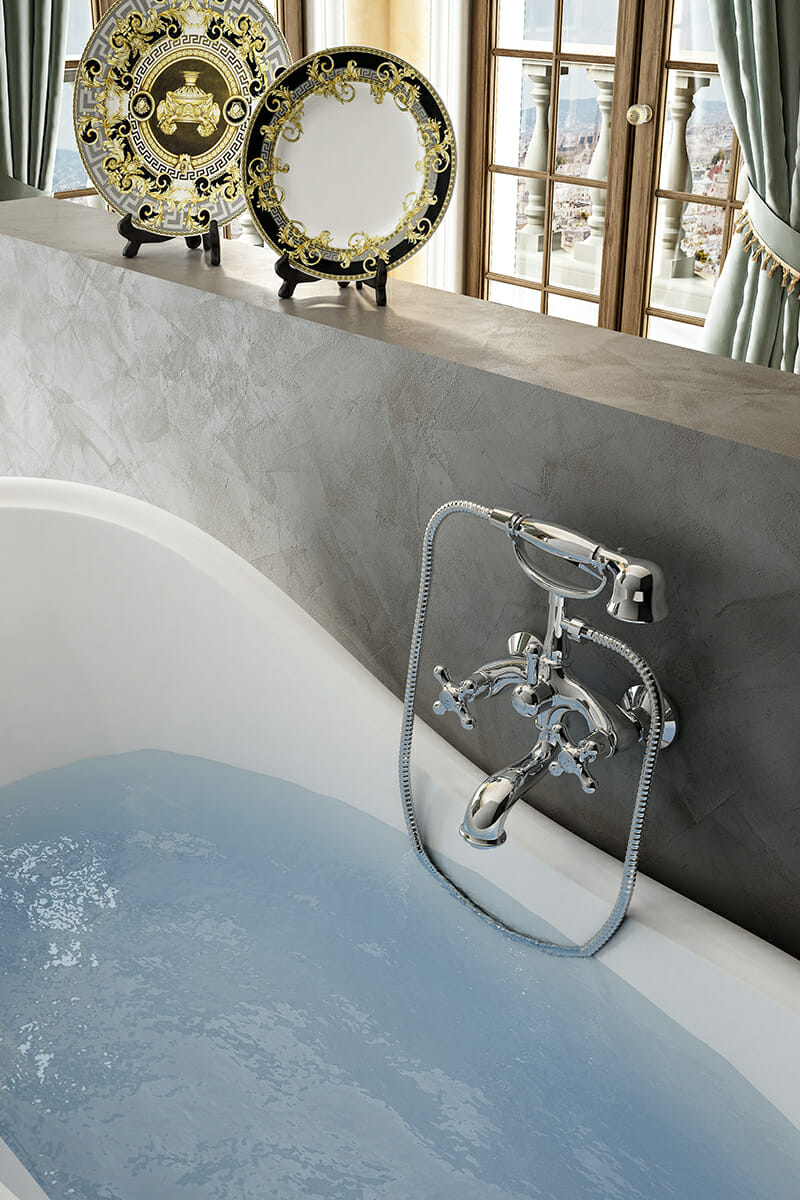 Traditional bath shower taps Camelot