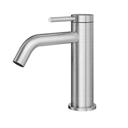 316 Stainless Steel Single lever washbasin mixer without waste LOGICA INOX LOX0053-IN
